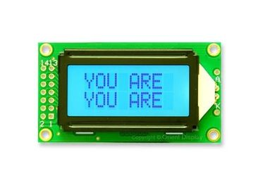 8 X 2 Grey Mode STN LCD Display 6'Clock Viewing Angle S6A0069 Controller ISO Standard